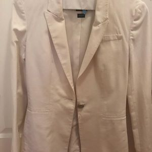 White Armani exchange blazer in size 0